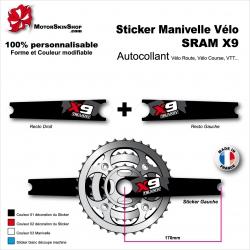 Sticker Manivelle SRAM X9 Vélo