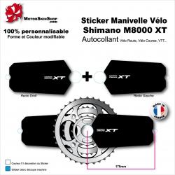Sticker Manivelle Shimano M8000 XT Vélo