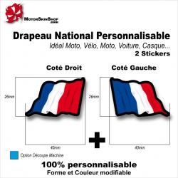 Sticker Drapeau FRANCE National Flottant Français
