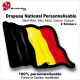 Sticker Drapeau BELGE National Flottant Belgique