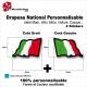 Sticker Drapeau ITALIE National Flottant Italien