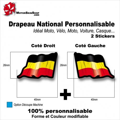 Sticker Drapeau ALLEMAGNE National Flottant allemand