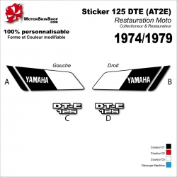 Sticker Yamaha Sticker 125 DTE (AT2E) 1974 - 1979