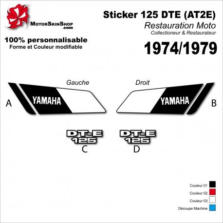Sticker Yamaha Sticker 125 DTE (AT2E) 1974 - 1979