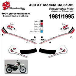 Sticker 400 XT Yamaha modéle 81-85