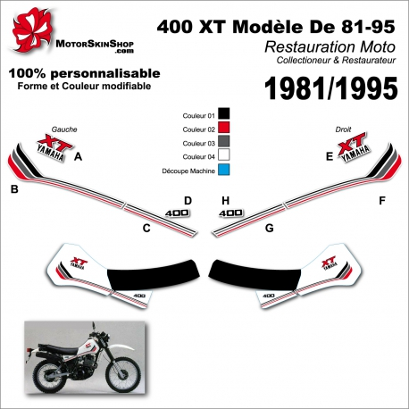 Sticker 400 XT Yamaha modéle 81-95