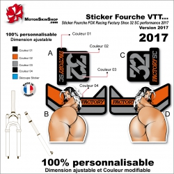 Sticker Fourche FOX Sexy Racing Factury Shox 32 SC performance 2017