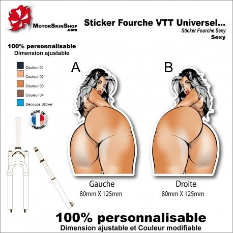 Sticker Fourche VTT Universel Fille Femme Sexy