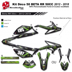 Kit déco 50 Beta RR 12-18 Monster Energy 50CC à boite Perso
