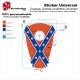 Sticker réservoir Drapeau sudiste confédéré Universel