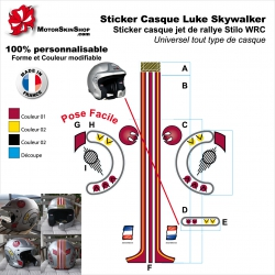 Sticker Casque Luke Skywalker Star Wars Universel