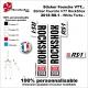 Sticker fourche RockShox RS-1 2018 VTT Fourche Blanche