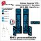 Sticker fourche RockShox Sid 2018 VTT Fourche Noir
