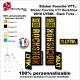 Sticker fourche RockShox Lyrik 2018 VTT Fourche Noir
