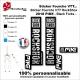 Sticker fourche RockShox Pike 2018 VTT Fourche Noir