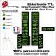 Sticker fourche RockShox Yari 2018 VTT Fourche Noir