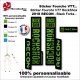 Sticker fourche RockShox Recon 2018 VTT Fourche Noir