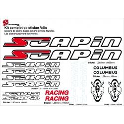 Sticker Vélo Scapin autocollant cadre pour Décoration