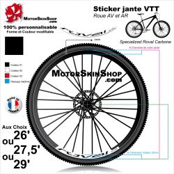 Sticker Jante VTT Roval Control Carbone 2018 25mm