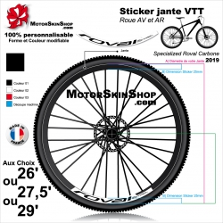 Sticker Jante VTT Roval Control Carbone 2019 25mm