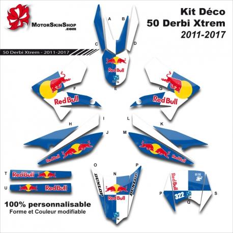 Kit Déco 50 Derbi Xtrem SM 2011-2017 A 50CC à boite Perso C