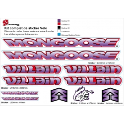 Sticker cadre BMX Mongoose Bikes 90-95