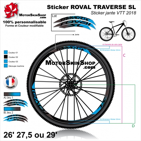 Sticker Jante VTT ROVAL TRAVERSE SL 2018