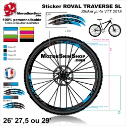 "Sticker Jante VTT ROVAL TRAVERSE SL 26"" 27.5"" 29"""