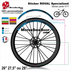 "Sticker Jante VTT ROVAL Specialized 20mm 26"" 27.5"" 29"""