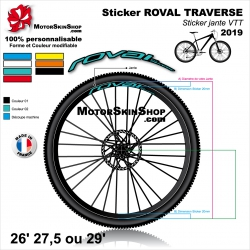 "Sticker ROVAL TRAVERSE 2019 20mm 26"" 27.5"" 29"""