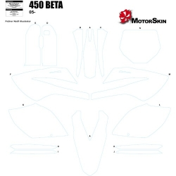 Gabarit Template Moto 450 Beta
