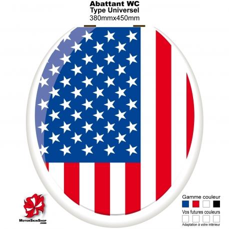 Sticker décoration Abattant WC Drapeau Américain