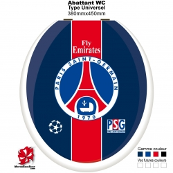 Sticker abattant WC PSG