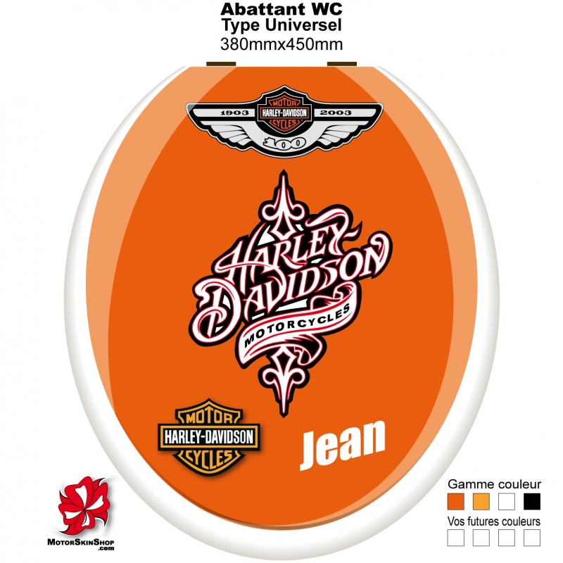 Sticker abattant wc harley davidson - Stickers abattant wc ...