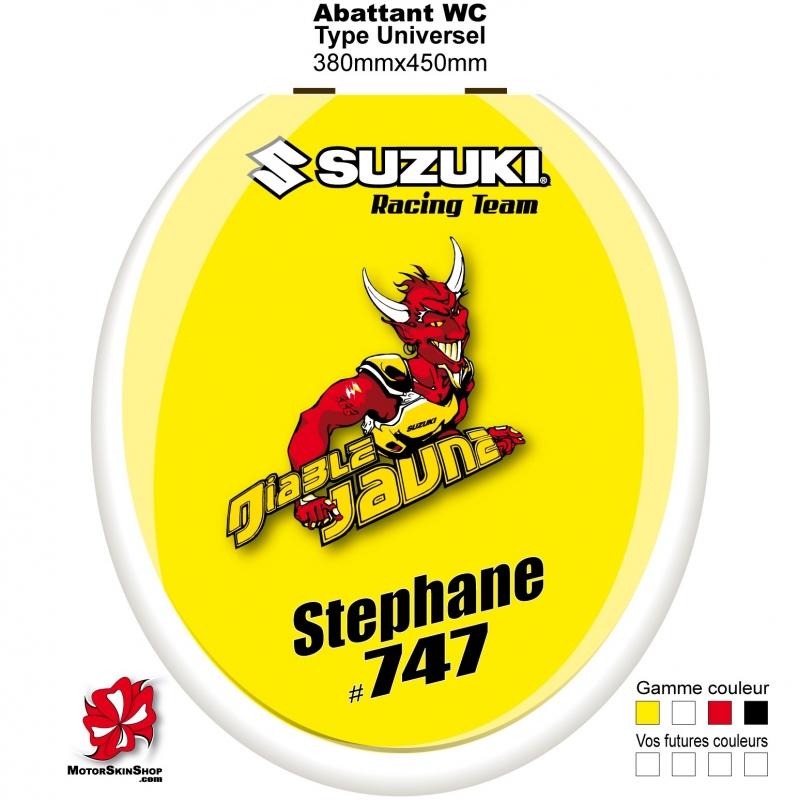 sticker abattant WC Suzuki