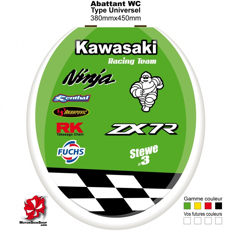 Sticker abattant wc zx7r kawasaki - Stickers abattant wc ...