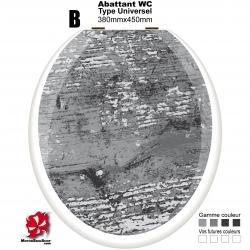 Sticker abattant WC Bois ancien