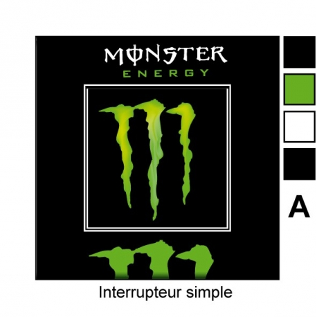 Sticker prise Monster Energy interrupteur universel
