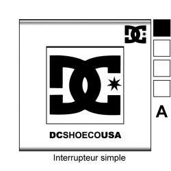 Sticker prise DC Shoes interrupteur universel