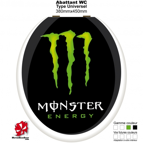 Sticker abattant WC Monster Energy