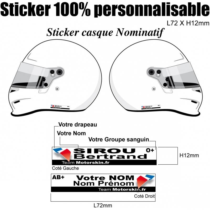 sticker casque nominatif karting quad jet ski moto v lo. Black Bedroom Furniture Sets. Home Design Ideas