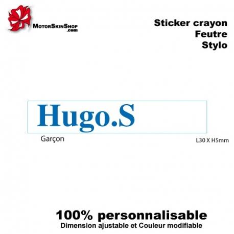 Sticker crayon, stylo ou feutre
