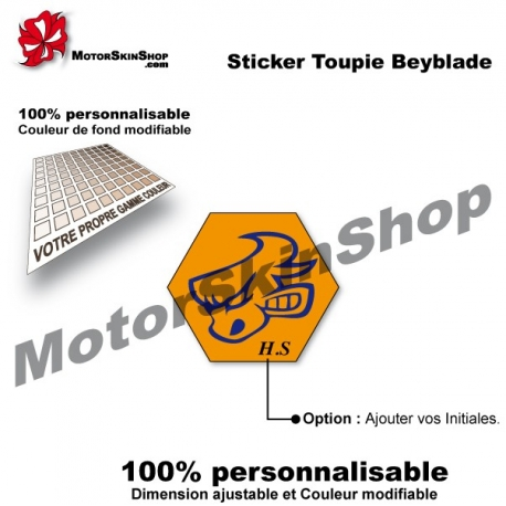 Sticker toupie Beyblade Dark Bull