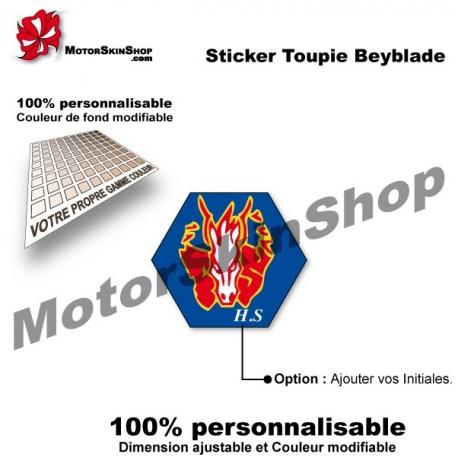 Sticker toupie Beyblade Storm Pegasus