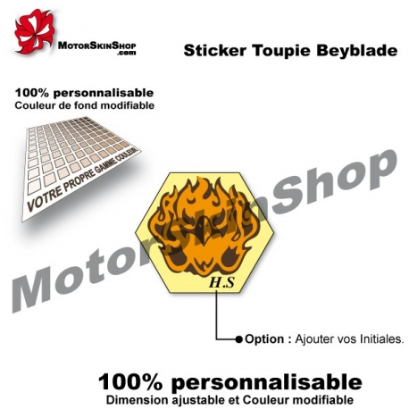 Sticker toupie Beyblade Burn Fireblaze