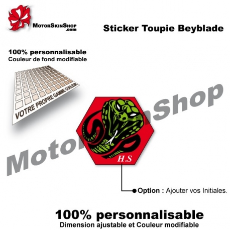 Sticker toupie Beyblade Poisson Serpent