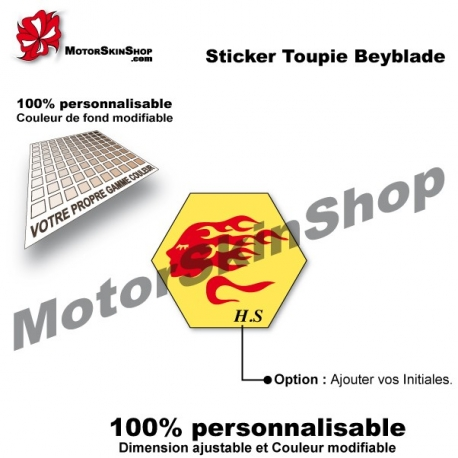 Sticker toupie Beyblade Night Virgo