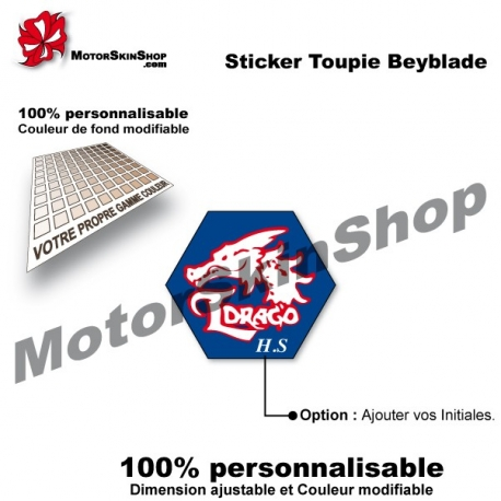 Sticker toupie Beyblade L'Drago