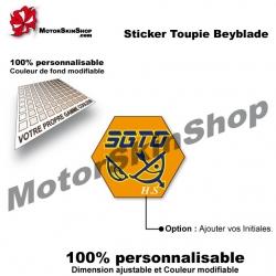 Sticker Beyblade Flame Sagottario