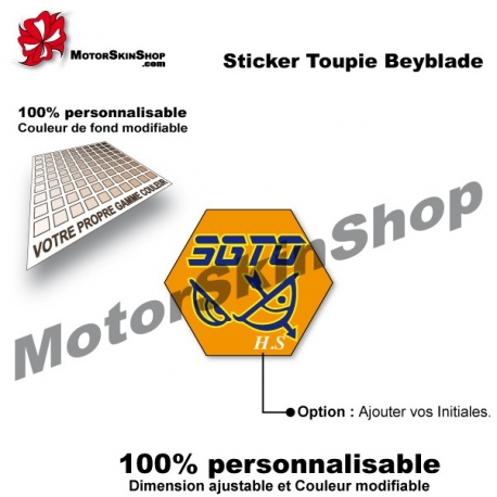 Sticker toupie Beyblade Flame Sagottario